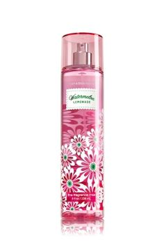 Watermelon Lemonade - Fine Fragrance Mist - Signature Collection - Bath & Body Works - Lavishly splash or lightly spritz your favorite fragrance, either way you'll fall in love at first mist! Our carefully crafted bottle and sophisticated pump delivers great coverage while conditioning aloe mist nourishes skin for the lightest, most refreshing way to fragrance!