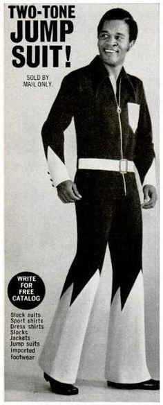 beatnikdaddio: sold by mail only? …somebody get me some stamps! Old Advertisements, Retro Ads, History Facts, Sports Shirts, Slacks, Jumpsuit, African, Suits, Jackets