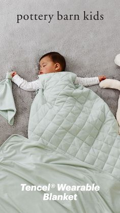 What's better than a little one wrapped up in a blanket? A little one in a wearable blanket. Made of 95% tencel, it'll keep them snug, cozy and super cute.