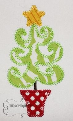 Christmas Whimsical Tree Digital Embroidery by theappliquediva, $2.99