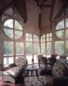 Screened Porch: use lattice to screen unsightly views (ie garbage cans!)