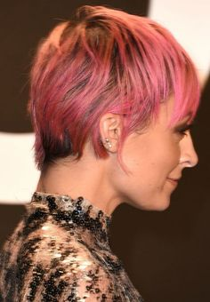 Nicole Richie at the 2015 Tom Ford autumn/winter show New Haircuts, Bob Hairstyles, Hairdos, Nicole Richie Hair, Michelle Williams Hair, Growing Out Short Hair Styles, Really Short Hair, Candy Hair, Hair Fixing