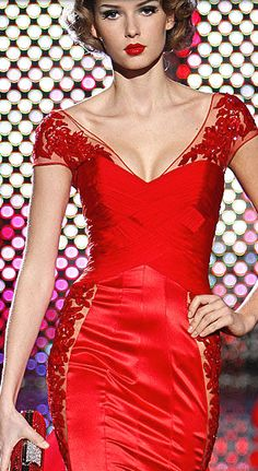 Zuhair Murad. Retro red!