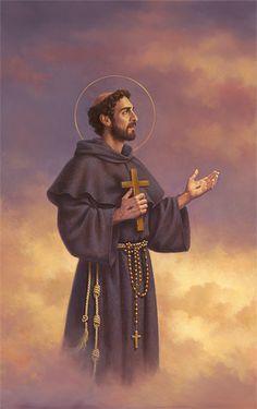Francis of Assisi. Catholic Art, Catholic Saints, Roman Catholic, Catholic Pictures, Jesus Pictures, Religious Images, Religious Art, St Francis Assisi, Clare Of Assisi