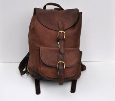 great leather backpack