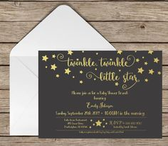 Baby Shower Invitation Twinkle Twinkle Little by RoundGroveDesigns