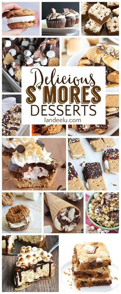 Over 20 Yummy S'MORES Dessert Recipes - I love s'mores and can't wait to try all of these smores dessert recipes!
