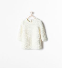 Image 1 of BOUCLE DRESS WITH POCKETS from Zara | This would be so cute with boots!