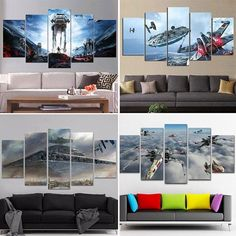 What can we get as gifts for a crazy Star Wars fan? If you are having difficulty with that these Star Wars Wall Canvas definitely the best gift for your friends and loved ones. Buy here: http://bit.ly/2BLnfWm Free Shipping Subscribe To Our VIP Newsletter Club and get 5% off discount code. Tag someone who needs this! :D We do custom design just send us your image. Want different size or panels? Message us. #Xwings #starwars #starfighter #battlefront #decor #homedecor #canvas #designs #art…