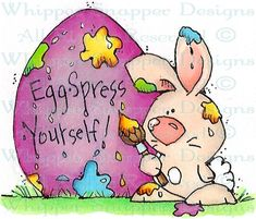 Eggspress Bunny - Rabbits - Animals - Rubber Stamps - Shop