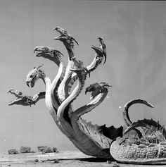 greggorysshocktheater:  The Hydra from Jason and the Argonauts (1963) Via Creepy Nostalgy on Facebook
