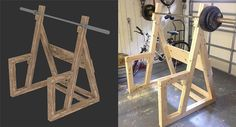 Check out 9 DIY Squat Rack Ideas | Homemade Wooden Power Rack by DIY Ready at http://diyready.com/diy-squat-rack-ideas/