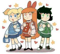 Powerpuff Girls: Bubbles, Blossom, and Buttercup (Powerpuff Girls) Girl Cartoon, Cartoon Art, Super Nana, Powerpuff Girls Costume, Ppg And Rrb, Cute Art Styles, Fan Art, Cartoon Shows, Cultura Pop