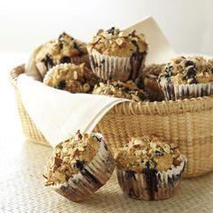 Whole-Grain Blueberry Muffins #recipe #muffins
