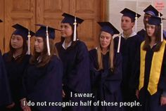 """And when you react to seeing your classmates. 