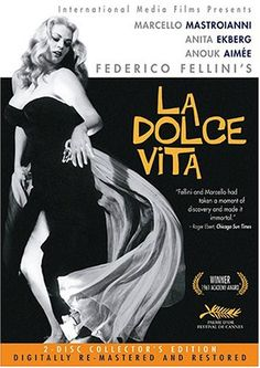Federico Fellini's La dolce vita is considered one of the greatest films in the history of world cinema. Starring Marcello Mastroianni as Marcello Rubini, a writer/journalist casually in sear… Anita Ekberg, Marcello Mastroianni, Film Movie, Anouk Aimée, Cinema Posters, Movie Posters, Pier Paolo Pasolini, Bon Film, Concours Photo