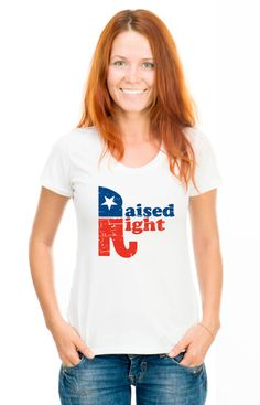 Raised Right Republican t-shirt election Birthday Gift For Men and Women - T-shirt Gift idea. More colors available S-27 by SHIRTSnGIGGLES on Etsy https://www.etsy.com/listing/200566186/raised-right-republican-t-shirt-election