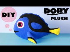 DIY Dory Plush!!! | with Free Templates | Finding Dory - YouTube