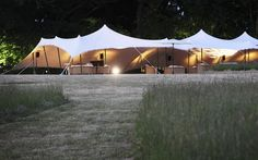 P147 - Hampshire Wedding - an iconic image - the pathway leading to the reception tent