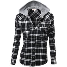 Awesome21 Women's Flannel Plaid Checker Rolled up Shirts Blouse Top ($20) ❤ liked on Polyvore featuring tops, blouses, shirts, jackets, coats, hoodies, roll up shirt, checked shirt, shirt blouse and checkered flannel shirt