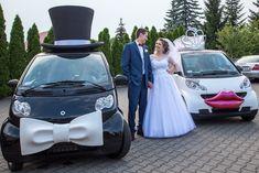 Aga i Staś www.smart-line. Crazy Wedding, Wedding Car, Smart Car, Aga, Tulle, Creative, Funny, Fashion, Moda