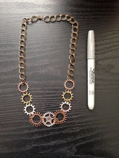 Steampunk Steampunk Jewelry Necklace by ArcanumByAerrowae on Etsy