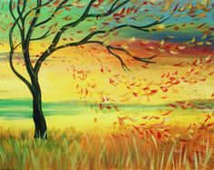 We host painting events at local bars. Come join us for a Paint Nite Party! Easy Painting Projects, Diy Painting, Painting & Drawing, Watercolor Paintings, Easy Paintings, Landscape Paintings, Landscapes, Wine And Canvas, Spring Painting