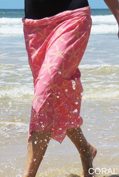Tribal Arrows Sheer Sarong Personalized Pink