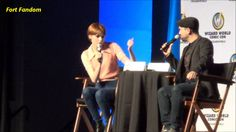 Karen Gillan with Michael Rooker Guardian of the Galaxy panel part 1 (Cool to see Merle from Walking Dead!)