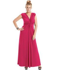 Love Squared Plus Size Sleeveless Knotted Maxi Dress - Dresses - Plus Sizes - Macy's