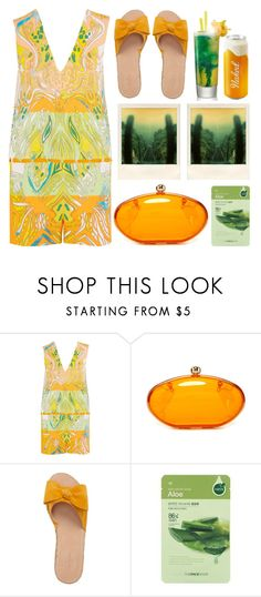"""Vibrant Summers"" by emcf3548 ❤ liked on Polyvore featuring Emilio Pucci, Kate Spade, The Face Shop and Polaroid"