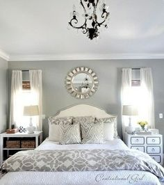 master bedroom traditional bedroom- our duvet is practically identical and i love all the furniture in this room. Gray Bedroom, Home Bedroom, Bedroom Decor, Pretty Bedroom, Bedroom Photos, Bedroom Colors, Bedroom Wall, Bed Room, Bedroom Designs