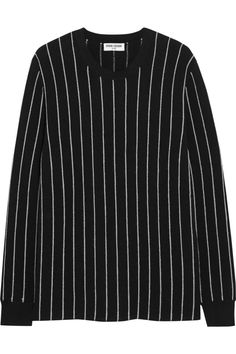 Opening Ceremony|Pinstriped cotton-blend top|NET-A-PORTER.COM
