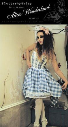 Alice's alice in wonderland dress from: flutterbydaisy