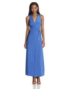 Sleeveless Wrap Maxi Dress by tbagslosangeles