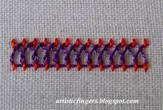 artisticfingers: Stitch tutorial - Threaded stitch