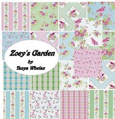 Complete collection Zoey's Garden by Tanya Whelan by mimis on Etsy