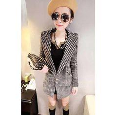 Detachable Fur Collar Long Sleeve Ladies Wool Coat One Size @QZS11607... ($26) via Polyvore