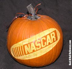 Create your very own NASCAR themed pumpkin carving!