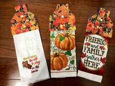 Terry kitchen towels three in set