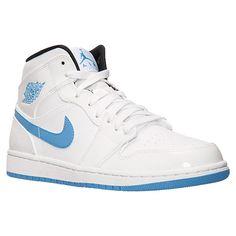 13b97d3db79376 Men s Air Jordan Retro 1 Mid Basketball Shoes - 554724 127