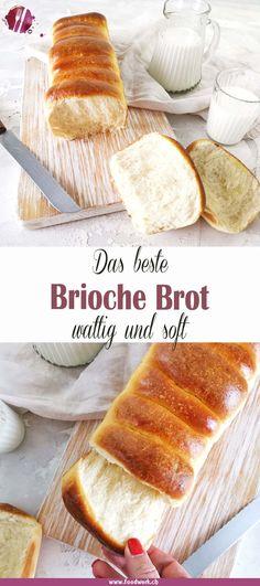 Wie du dir dein eigenes Brioche Brot selbst backen kannst und wie es besonders luftig und wattig wird, zeigen wir dir mit unserem Rezept. Auch unter dem Namen Einback ist dieses lockere Brot Rezept bekannt. Wir backen jeweils zwei Stück und frieren eines ein. Wenn wir es brauchen, geben wir es für einen kurzen Moment in den Backofen und es riecht wieder wie frisch gebacken. Camembert Cheese, French Toast, Dairy, Breakfast, Blog, Brioche, Vegan Bread, No Yeast Bread, Dough Bowl