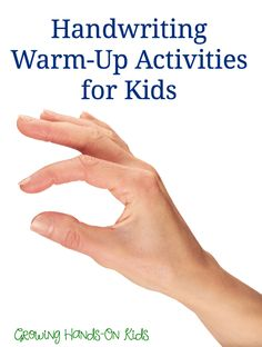 Warmup activities before writing - Shoulder and finger handwriting warm up activities for kids.