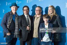 Sir Ian McKellen, Hiroyuki Sanada, Bill Condon, Milo Parker and Laura Linney (L-R) attend the 'Mr. Holmes' photocall during the 65th Berlinale International Film Festival at Grand Hyatt Hotel on February 8, 2015 in Berlin, Germany.