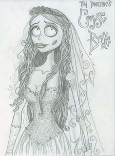 The Corpse Bride Drawn In Pencil Hd Wallpaper And Background Photos Of Emily For Fans Tim Burton Images
