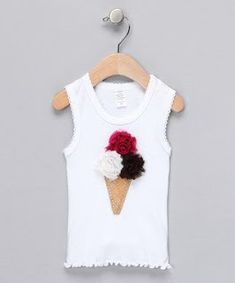 Take a look at this Neapolitan Shabby Bling'n Cone Tank - Infant, Toddler & Girls by Paddi Cake Bowtique on today! pinned by Liberhada ♥ Diy Clothing, Sewing Clothes, Diy Fashion, Fashion Design, Sewing For Kids, Sewing Ideas, Kind Mode, Refashion, Shirts For Girls