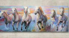 10 Feng Shui Horses Seven Horses Ideas Horses Feng Shui Horse Horse Canvas Painting