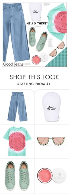 """""""hello there"""" by mycherryblossom ❤ liked on Polyvore featuring Hudson Jeans and Alice + Olivia"""