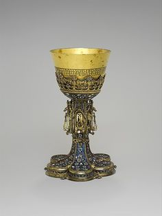 Chalice,made in 1462  Central European  Silver,gilded silver,cloisonne enamel and perarls