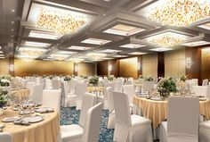 Wedding Banquet Halls Luxury Lighting Design 3d